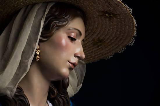 Rostro de la Divina Pastora de las Almas de Cártama