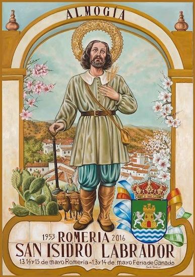 Cartel de la Romería San Isidro de Almogía 2016