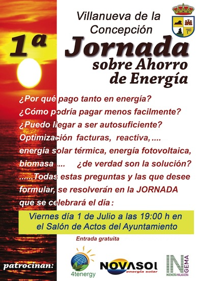 Jornada sobre Ahorro de Energía en Villanueva de la Concepción