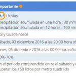 Alerta Naranja por lluvias en los pueblos de Málaga