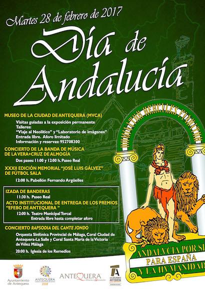 La ciudad de Antequera conmemorará el 28 de febrero, Día de Andalucía, con un programa de actividades culturales y deportivas así como con la solemne entrega de los Premios Efebo