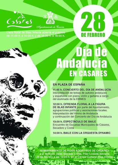 Día de Andalucía en Casares, pueblo de Málaga donde nació Blas Infante