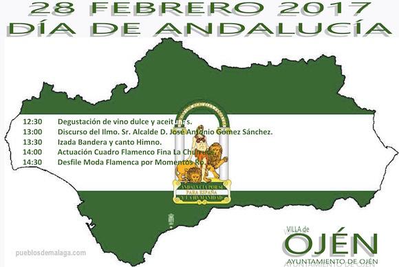 Cartel Día de Andalucia Ojén