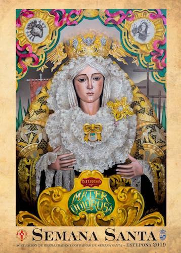 Cartel anunciador de la Semana Santa de Estepona 2019.