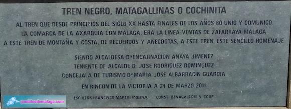 Leyenda del Tren de la Cochinita en Rincón de la Victoria