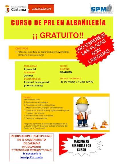 Curso gratuito de Prevención de Riesgos Laborales en Cártama