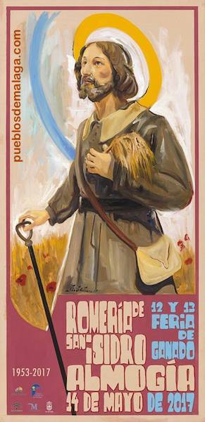 Cartel de la Romería San Isidro de Almogía 2017