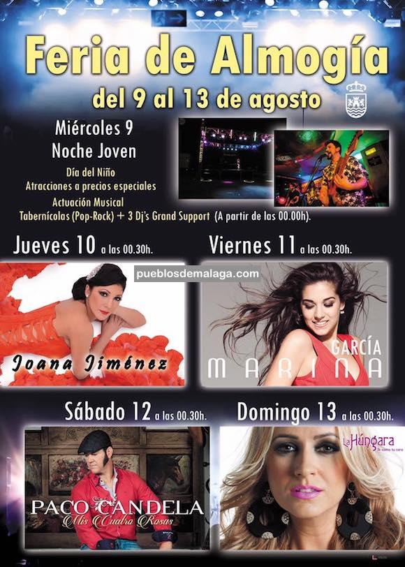 Actuaciones musicales de la Feria de Almogía 2017