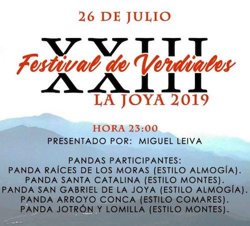 festival de verdiales que la pedanía de La Joya (Antequera) realiza tradicionalmente a finales del mes de julio