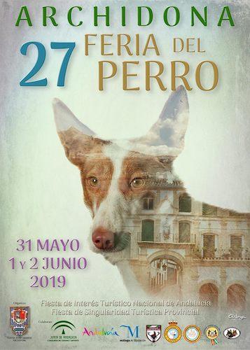 Cartel anunciador de la XXVII Feria del Perro de Archidona. Autor: Ricardo Arjona.