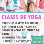 Clases de Yoga en el Centro de salud de Almogía