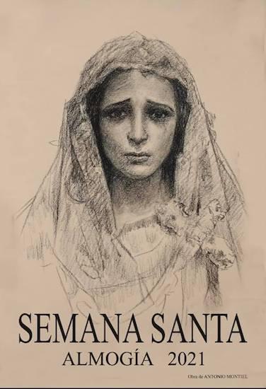 Cartel de la Semana Santa de Almogía 2021, obra de Antonio Montiel