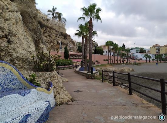 Vista panoramica del Paseo Virgen del Carmen del Rincón de la Victoria situado junto al Tunel que va a La Cala del Moral