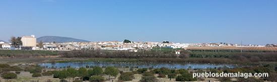 pueblo malagueño de Fuente de Piedra